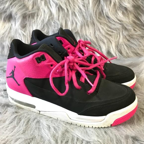 2f4b5b3760b8 Air Jordan Other - Nike Air Jordan Flight Pink   Black 4Y ...